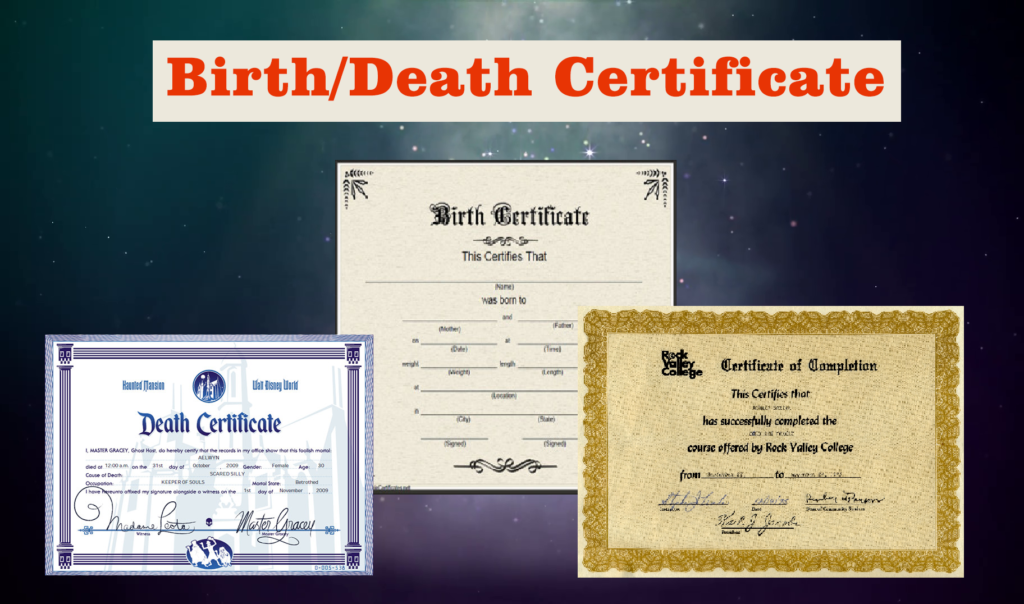 buy fake birth death certificates online